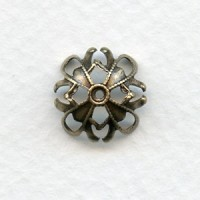 Grand Filigree Brass Bead Caps for 13mm Beads (12)
