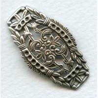 Elegant Filigree Bracelet Focal Point Oxidized Silver (1)