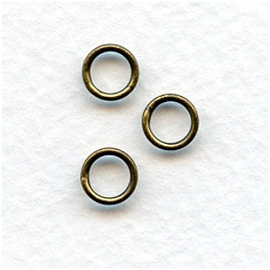 Soldered Jump Rings Oxidized Brass 7mm (25)