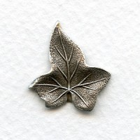 Ivy Leaves Oxidized Silver Stampings 21mm (4)