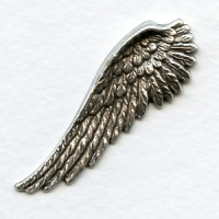 Spectacular Wings Right Side Oxidized Silver 52mm Tall (2)