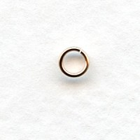 *Rose Gold-Plated 22 Gauge Jump Rings 4mm (50)