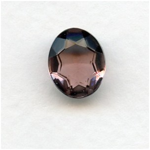 Lt Amethyst Glass Oval Unfoiled Jewelry Stones 12x10mm