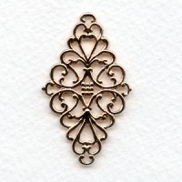 Diamond Shaped 44mm Filigrees Rose Gold Plated (6)