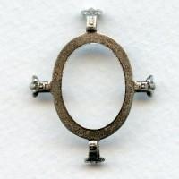 Open Back Turtle Settings 25x18mm Oxidized Silver (3)