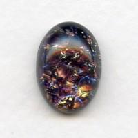 Amethyst Glass Opal Cabochon German 18x13mm (1)