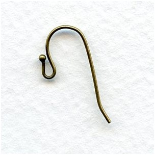 Fish Hook Ball Loop Earring Findings Oxidized Brass (24)