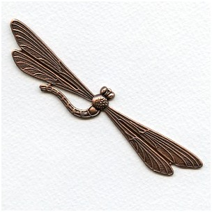 Giant Dragonfly Stampings Oxidized Copper 115mm (1)