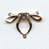Fancy Ribbon Style 3 Way Connector Rose Gold (3)