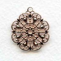 Round Filigree with Loop Rose Gold 23mm (6)