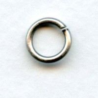 Jump Rings 6.5mm Round Dark Oxidized Silver (24)