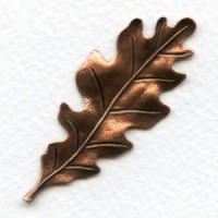 Oak Leaf Stampings Oxidized Copper 55mm (3)