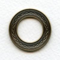 Link Detail Porthole Settings Oxidized Brass 29mm (2)