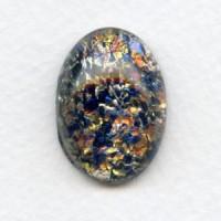 Multi Color Black Opal Glass Stone 25x18mm