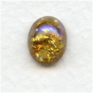 Topaz Glass Opal Cabochons Handmade 10x8mm