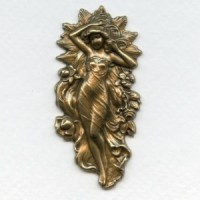 Flowing Goddess Repousse 63mm Oxidized Brass (1)