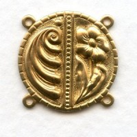 ^Floral Connectors Raw Brass 19mm (6)