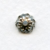 Favorite Filigree Bead Caps Oxidized Silver 9mm (24)