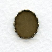 Lace Edge Settings 12x10mm Oxidized Brass (12)