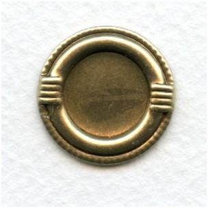 Decorative Edge 13mm Settings Oxidized Brass (6)