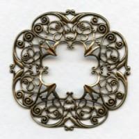 Openwork Detailed Filigree Frame Oxidized Brass (1)