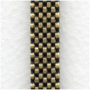 Mesh Chain Oxidized Brass 8mm Wide 1 Foot