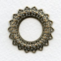 Filigree Raised Frame Button Mount 32mm (1)