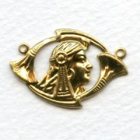 Egyptian Revival Style Connector Raw Brass (6)