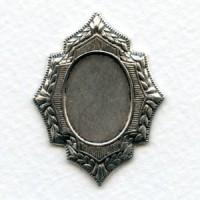Elaborate Setting Base Oxidized Silver 20x15mm (1)
