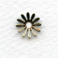 Dapt Flower Oxidized Brass Stampings 10mm (12)