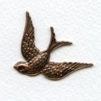 Bird in Flight Stamping Oxidized Copper (1)