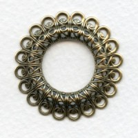 Filigree Raised Frame Button Mount 37mm (1)