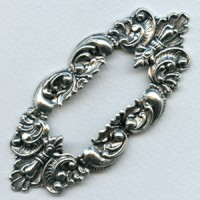 Large Framework Old World Details Oxidized Silver (1)