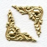Corner Details Raw Brass Fancy Victorian Style (6)