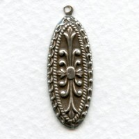 Detailed Pendants 29mm Oxidized Silver (12)