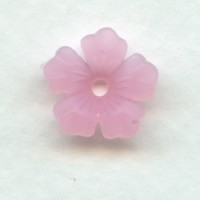 Lucite Flower Beads Matte Rose 14mm (24)