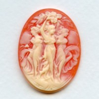^Three Muses Cameo Ivory on Carnelian 40x30mm (1)
