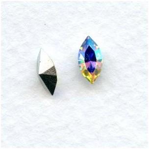 Crystal AB 8x4mm Navette Stones (12)
