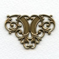 Floral Ornamental Openwork Stampings Oxidized Brass (4)