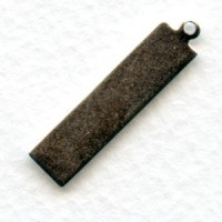 Logo Tags Rectangle Oxidized Silver 29mm (12)