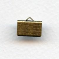^Textured Choker Clamps 12.5mm Length Oxidized Brass (12)