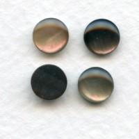 Black Tahiti Pearl 7mm Shell Cabochons (4)