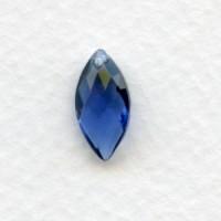Montana Briolette Marquis Shape Glass Pendant 14x7mm