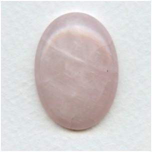 Rose Quartz Gemstone Cabochon 30x22mm (1)