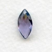 ^Briolette Marquis Alexandrite Glass Pendant 14x7mm