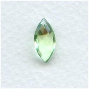 ^Briolette Marquis Shape Peridot Glass Pendant 14x7mm