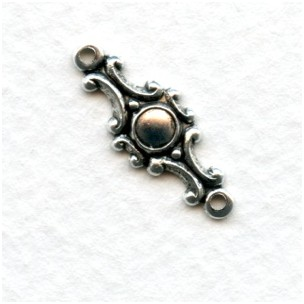 Ornate Connectors Oxidized Silver 20mm (12)