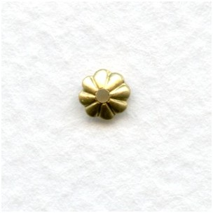Fluted Bead Caps Raw Brass 5mm Excellent! (50)