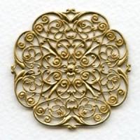 Filigree Ornate Flat 48mm Raw Brass (1)