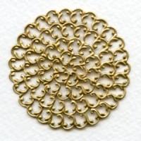 Filigree Round Flat 48mm Raw Brass (1)